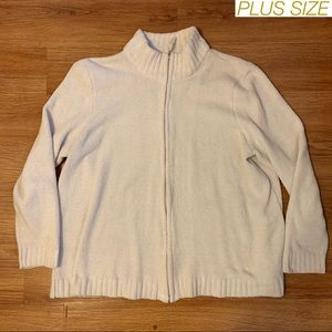 PLUS SIZE Fleece Zip Up Sweater